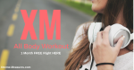 XM 1 Month Free Workout